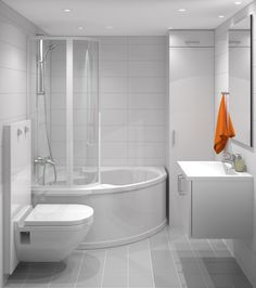 How to Finish Your Basement and Basement Remodeling – House Remodel HQ House Design, Bathroom, Corner Bathtub, Scandinavian Bathroom Design Ideas, Bathrooms Remodel, Dream Apartment, Diy Bathroom Decor, Scandinavian Bathroom, Bath Linens