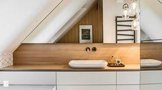 Mieszkanie w Wolsztynie - Średnia łazienka na poddaszu w domu jednorodzinnym z oknem, styl nowoczesny - zdjęcie od Żaneta Strażyńska