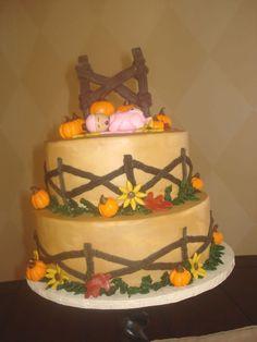 pumpkin themed baby shower cake   Pumpkin Patch Baby Shower Cake — Baby Shower