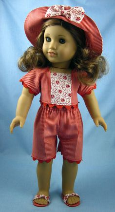 American Girl Doll Clothes Red Wardrobe by SewMyGoodnessShop