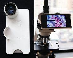 Adaptador para celular facilita a obtenção de imagens microscópicas   Biomedicina Padrão