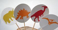 Dinosaur Cupcake Toppers.