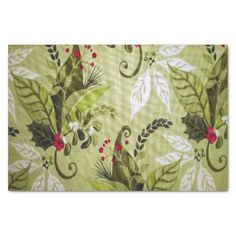 """Christmas floral pattern tissue paper 10"""" x 15"""" tissue paper"""