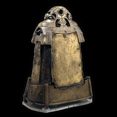 Bell shrine containing an iron hand-bell thought to have belonged to St Cuilean. Glankeen, Co. Tipperary, Ireland. Bell: AD 600–800, shrine: AD 1100–1200.