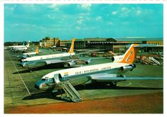 Dinge en Goete (Things and Stuff): Bit of South Africa History in pictures: O. Tambo International Airport (Jan Smuts) & the Palmietfontein Airport Jets, Aviation Center, South African Air Force, Kempton Park, Nostalgia, Boeing 727, Aviation Industry, Commercial Aircraft, Civil Aviation