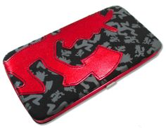"INSANE CLOWN POSSE ""RED FOIL"" METAL FRAME BLACK CLUTCH WALLET NEW OFFICIAL ICP"
