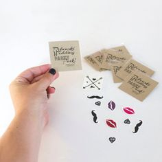 Temporary Tattoo Wedding Favors, Wedding Party Pack, Gift Bag Tatts