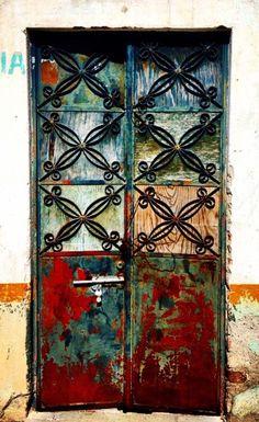 Charcas, San Luis Potosí, Mexico door