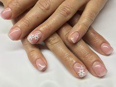 Nail wedding winter baby boomer nail art snow Flakes #redlipsmakeuproma