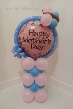 Happy Mothers Day Balloon Column in Pink and Blue £6  https://www.facebook.com/photo.php?fbid=426236510802627=pb.352718118154467.-2207520000.1362913886=3