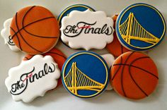 Golden State Warriors Cookies by luxecookie on etsy