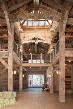 Just Add Stairs To The Middle And Perfect  Horse Barn With Apartment