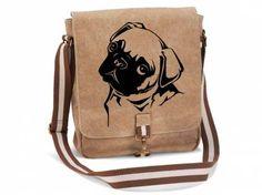 Canvas Tasche HunderasseCanvas Messenger: Mops 1