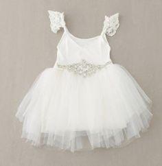 White tutu dress - size 1 Tulle Flower Girl, Flower Girls, Flower Girl Dresses, Dress Girl, Little Girl Dresses, Girls Dresses, Baby Dresses, Long Dresses, Cheap Dresses