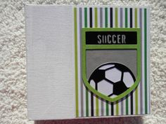 6x6 Premade Soccer Scrapbook Album by SimplyMemories on Etsy