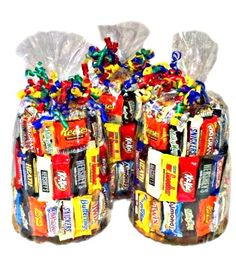 Delicious candy bouquet and candy bar cake gifts to send for any special occasion!