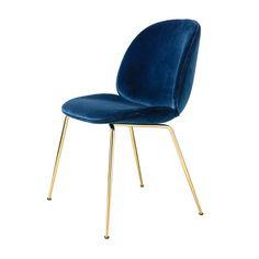 Chair - Beetle - brass legs - Gubi