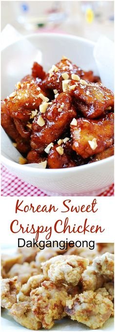 Korean fried chicken that's crispy, sweet, tangy, and spicy all in one bite! #KoreanFoodRecipes