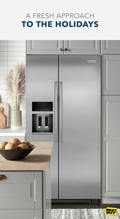 This KitchenAid refrigerator is designed to keep food fresher longer with the Preserva Food Care System. The FreshFlow Air Filter minimizes odors while the Produce Preserver helps delay over-ripening. If you want to freshen up your holiday entertaining with the latest appliances, Best Buy can help. Our Associates know appliances inside and out, plus we have Price Match Guarantee. So, you'll get appliances you want at a price you'll love. For full details, see BestBuy.com/PMG.