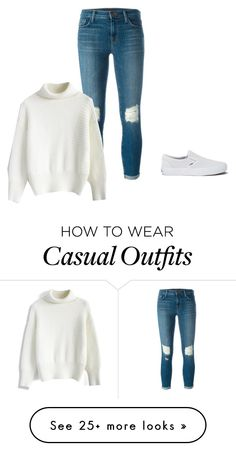 """Casual"" by shabirabirabwa on Polyvore featuring J Brand, Chicwish and Vans"