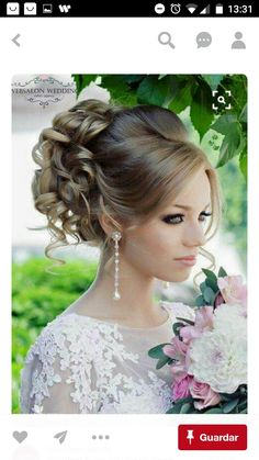 Stunning Summer Wedding Hairstyles ❤ See more: www. Stunning Summer Wedding Hairstyles ❤ See more: www.weddingforwar… Stunning Summer Wedding Hairstyles ❤ See more: www. Wedding Hair And Makeup, Wedding Updo, Bridal Hair, Hair Makeup, Wedding Bride, Wedding Ideas, Prom Updo, Boho Wedding, Wedding Simple