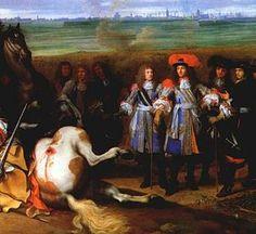 LeBrun Louis XIV at Douai in the War of Devolution 1667.jpg