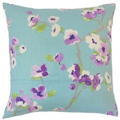 Dashania Floral Pillow Turquoise