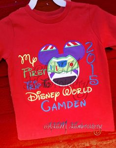Hey, I found this really awesome Etsy listing at https://www.etsy.com/listing/219628678/my-first-trip-to-disney-embroidered