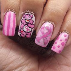 breast cancer awareness by nailsbyalexiz #nail #nails #nailart
