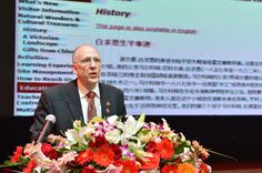 Dr John Ducas, a cardiologist from Winnipeg and the president of the BBCA, spoke in Shijiazhuang on the friendship between Canada and China. Travel Items, Educational Activities, Friendship, Canada, China, World, The World, Travel Packing, Teaching Materials