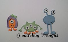 TOOTLEBUG DESIGNS - Little Monsters paper piecing set for scrapbook page