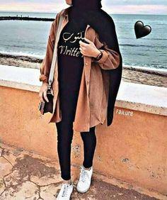 Fashion Hijab Turkish Very Awesome Iranian Women Fashion, Muslim Fashion, Hijab Fashion, Fashion Outfits, Modest Fashion, Women's Fashion, Hijabi Girl, Girl Hijab, Hijab Outfit