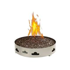 Napoleon Patio Flame 60,000 BTU Natural Gas Fire Pit With Glass Embers (€245) ❤ liked on Polyvore featuring home, outdoors, outdoor decor, garden patio decor, outside fire pit, outdoor fire pit, outdoor patio decor and patio fire bowl
