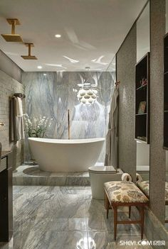 Bathroom showerheads ideas - Browse bathroom designs and decorating ideas. Discover inspiration for your bathroom remodel, including colors, storage, layouts and organization. #marblebathrooms