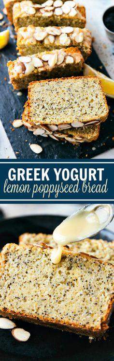 Healthy Greek Yogurt Lemon Poppyseed Bread