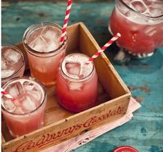A good holiday drink: cranberry juice, apple juice, and ginger ale.