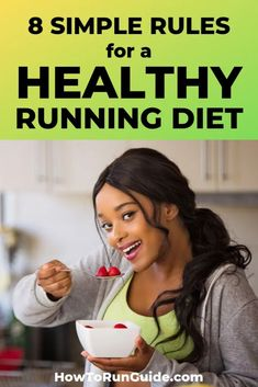 8 Simple Rules for a Healthy Running Diet [You Can Actually Stick To]. Runners need to eat right, but what running diet you choose depends on your goals. Learn the 8 rules for a healthy running diet and find out what& right for you! Nutrition For Runners, Diet And Nutrition, Long Distance Running Tips, Runner Diet, Runners Food, Health And Wellness, Health Fitness, Running For Beginners, Healthy Lifestyle Tips