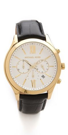 gorgeous. it's mens but i'd totally rock this. // michael kors brookton watch