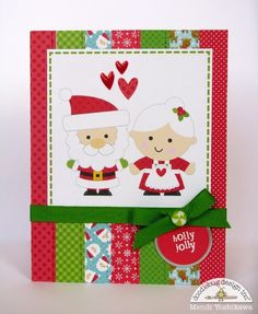 Snippets By Mendi: Doodlebug Designs Sugarplums Mr. & Mrs. Claus Christmas Card