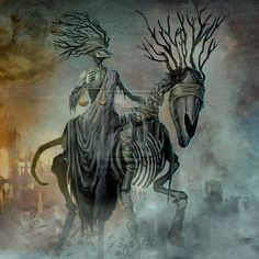Famine - Four Horsemen of the Apocalypse by DanteCyberMan on DeviantArt Dark Fantasy, Fantasy Art, Apocalypse Tattoo, Theme Tattoo, Horsemen Of The Apocalypse, Fantasy Paintings, Medieval, Angels And Demons, Grim Reaper