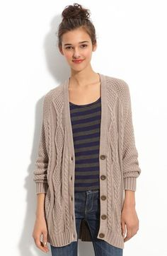 Free shipping and returns on Rubbish® Cabled Slouchy Cardigan (Juniors) at Nordstrom.com. Waffle-knit sleeves join a cabled body in a effortlessly chic oversized cardigan.