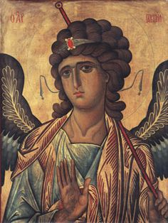 Icon of Holy Archangel Gabriel, Byzantine (Constantinople or Sinai? The Holy Monastery of Saint Catherine, Sinai, Egypt. Byzantine Icons, Byzantine Art, Religious Icons, Religious Art, Saint Catherine's Monastery, Saint Gabriel, Russian Icons, Art Icon, Medieval Art