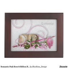 Shop Romantic Pink Rose & Ribbon Keepsake Box created by BlueRose_Design. Wooden Keepsake Box, Keepsake Boxes, Ribbon Clipart, Mahogany Color, Photoshop, Save The Date Magnets, My Scrapbook, Wedding Anniversary Gifts, Decoration