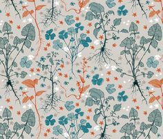 Weed Patch fabric by mariaspeyer on Spoonflower - custom fabric