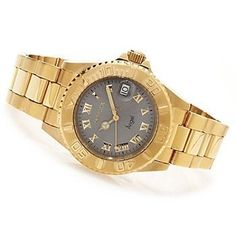 Women's Wrist Watches - Invicta Womens 14366 Angel Analog Display Swiss Quartz GoldPlated Watch ** Click on the image for additional details.