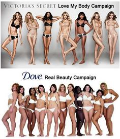 The Difference Between Victoria's Secret and Dove Soap models- thoughts?