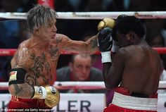 Putting his money where his mouth is: Mickey won a bout in Moscow against Elliot Seymour via KO in though his opponent later claimed he had been paid to throw the fight Buddy Workouts, Gym Workouts, Baseball Star, Mickey Rourke, Celebrity Workout, Celebrity Couples, Celebs, Men Celebrities, Fitness Motivation
