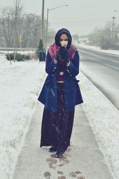 winter hijab fashion