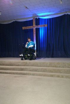Our special wheelchair bound Sis sung a song for the program