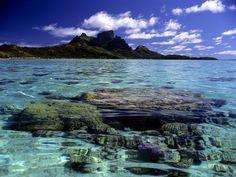 size: Photographic Print: Bora Bora Lagoon by Ron Whitby Photography : Bora Bora, Tahiti, Kinds Of Music, Venice Italy, Photographic Prints, Good Music, Framed Artwork, Landscape, Water